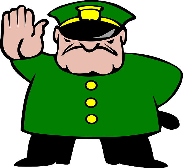 Police Man Stop · Free vector graphic on Pixabay
