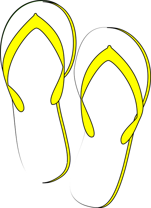 ccdc4592ddc4 Thongs Flip Flops Yellow - Free vector graphic on Pixabay