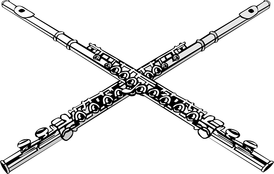 free vector graphic  flutes  crossed  music  ensemble - free image on pixabay