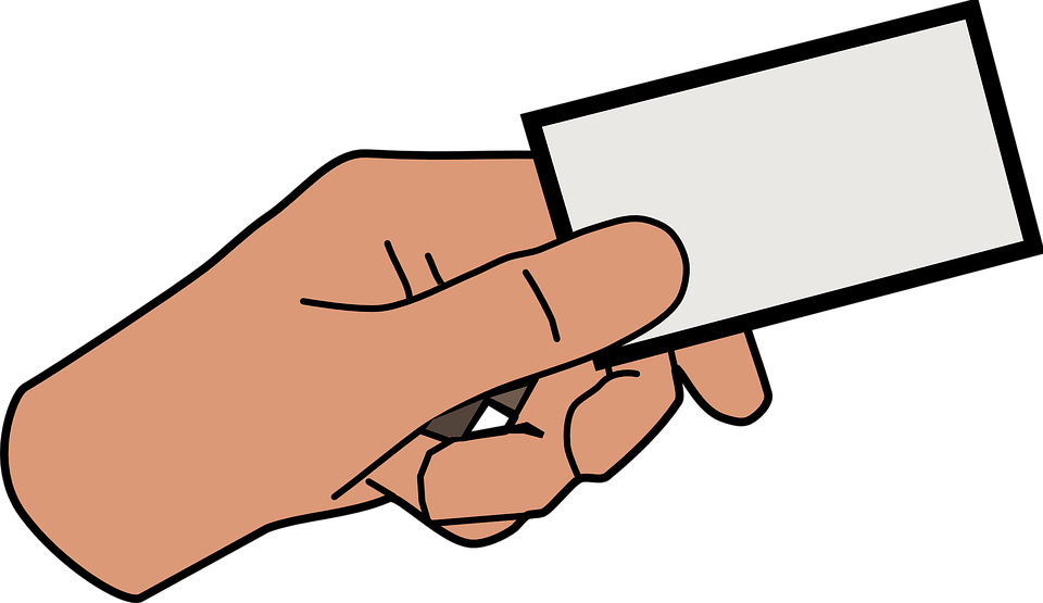 Hand card holding free vector graphic on pixabay for Clipart for business cards