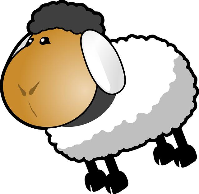 Image vectorielle gratuite moutons dessin anim gris - Photos de moutons gratuites ...