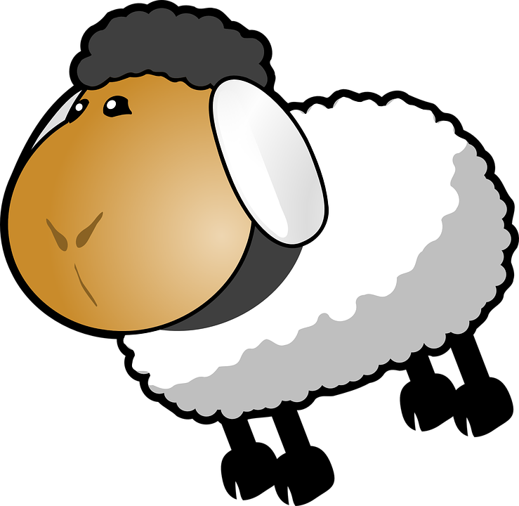 Image vectorielle gratuite moutons dessin anim gris - Mouton dessin anime ...