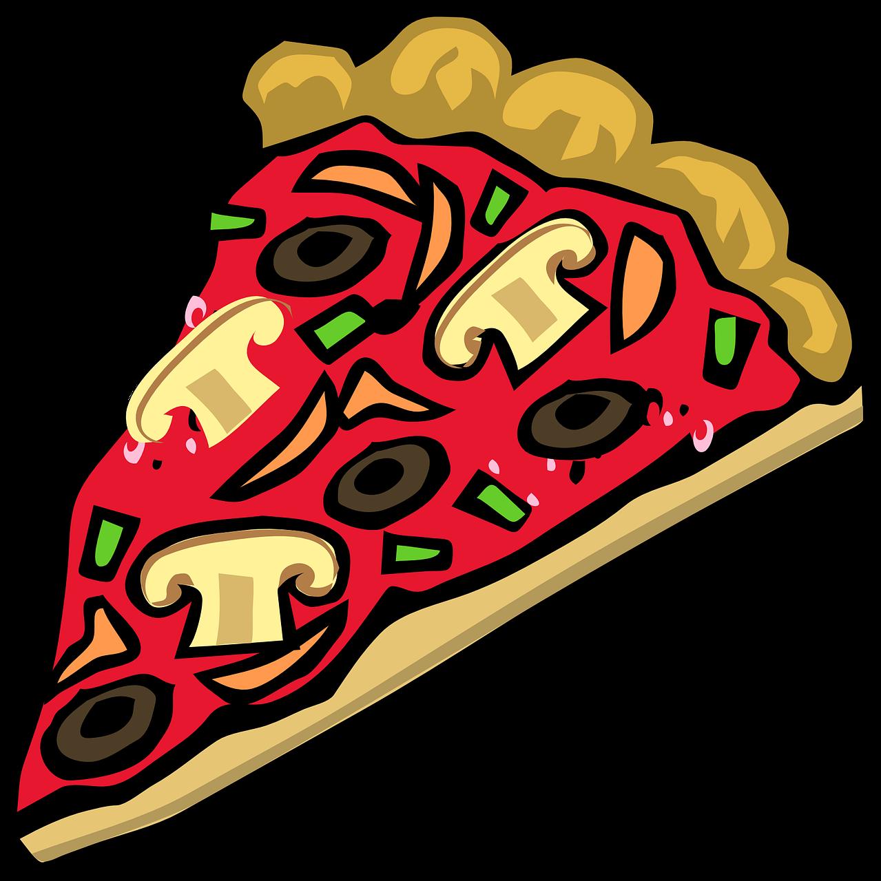кусочек пиццы рисунок школы