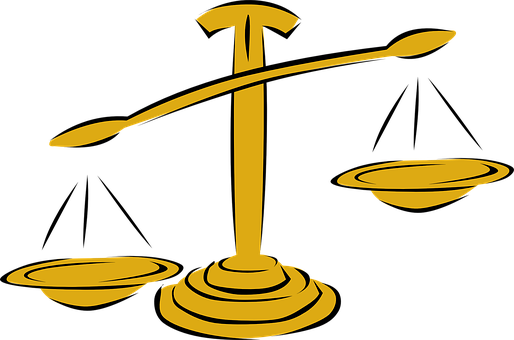 スケール, バランス, 天秤座, 正義, ゴールド, 重量