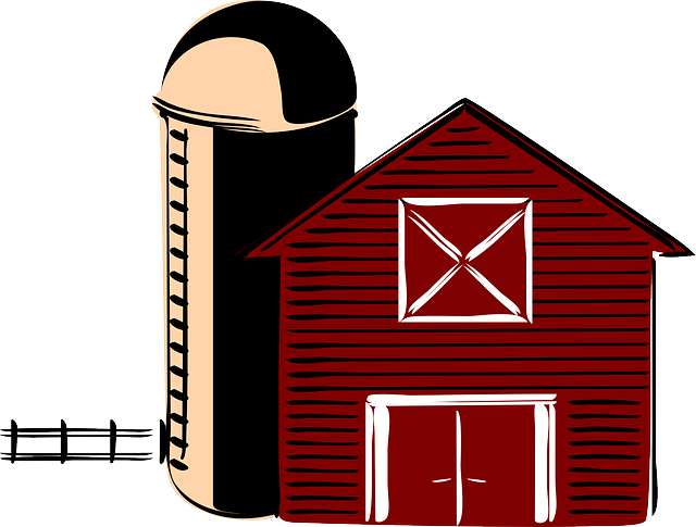 Clipart Fazendinha Png: Free Vector Graphic: Barn, Traditional, Silo, America