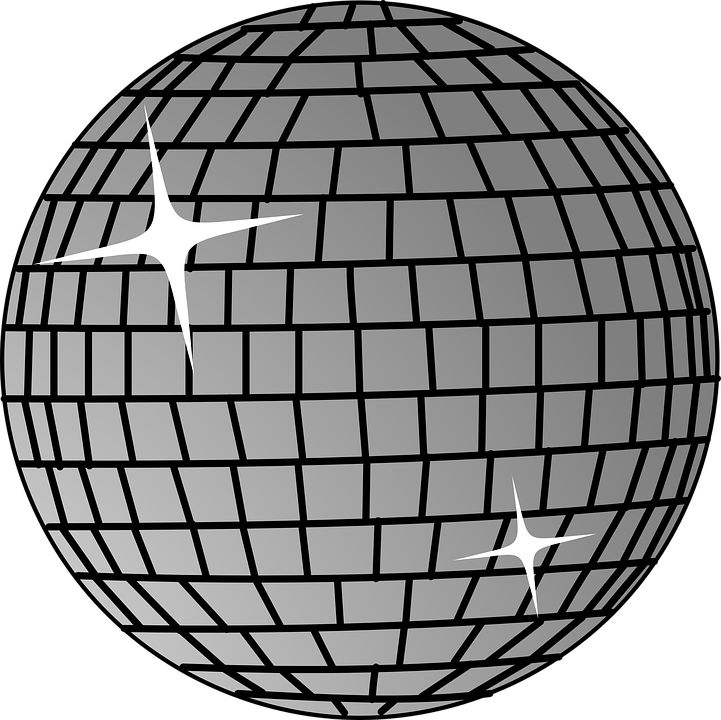 Disco ball mirror free vector graphic on pixabay for Disco ball coloring page