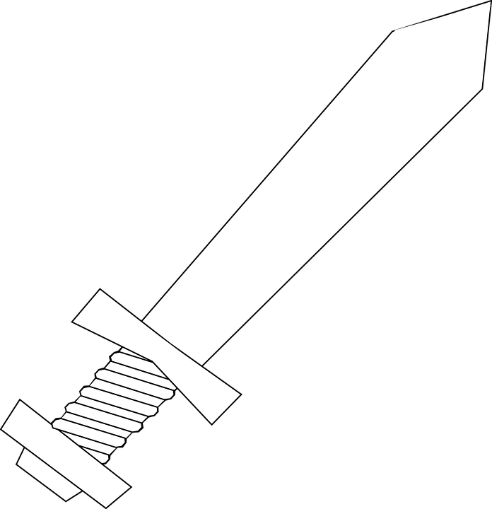 Free vector graphic knife sword weapon dagger free for Coloring pages sword