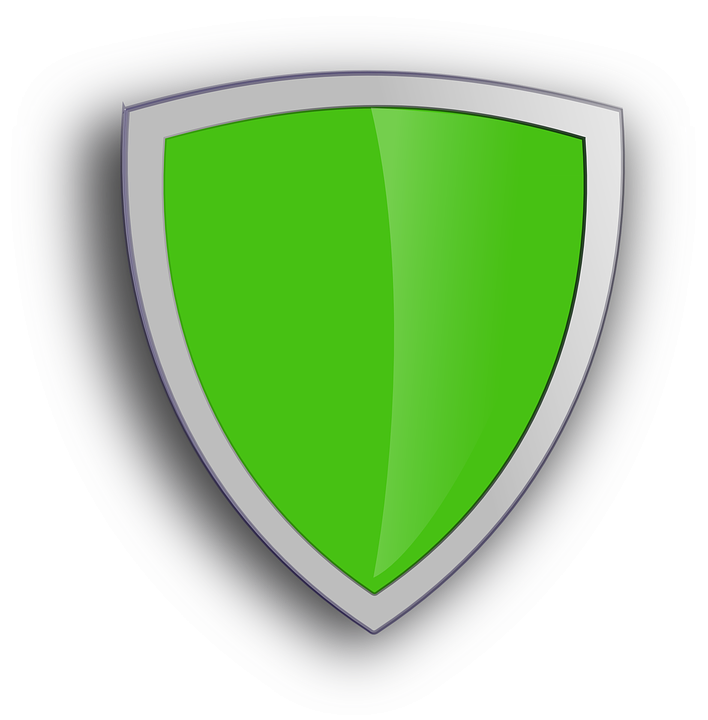 Free vector graphic: Shield, Green, Shadow, Protection