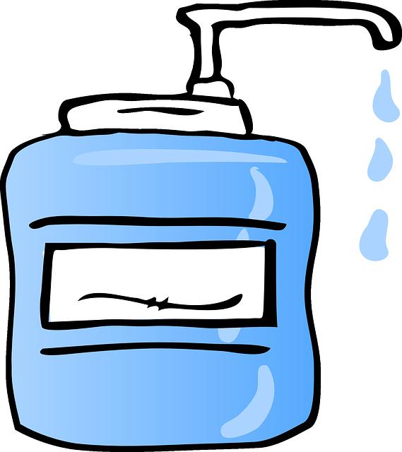 Free Vector Graphic Liquid Soap Dispenser Drip Wash