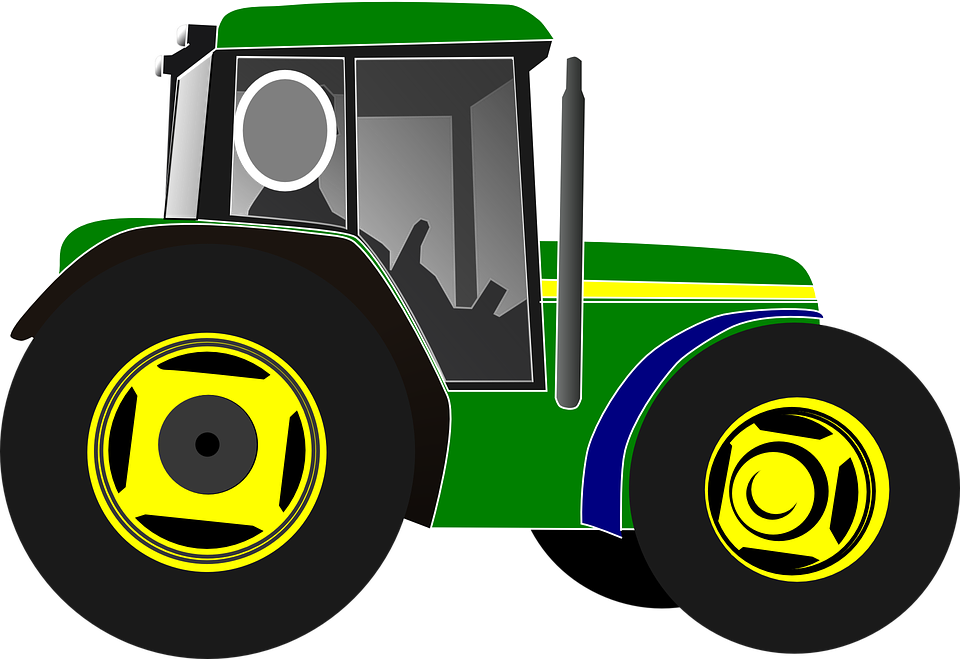 Tractor Cartoon Picker : Tractor green driver · free vector graphic on pixabay