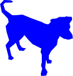 dog, silhouette, top