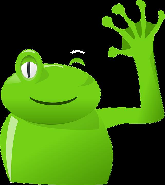 grenouille main wave au images vectorielles gratuites sur pixabay