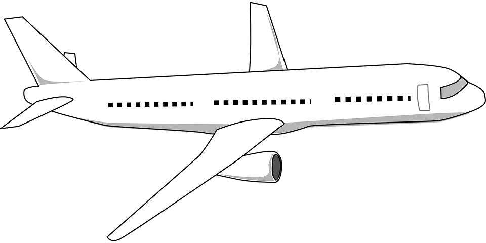 Airliner aeroplane airplane free vector graphic on pixabay - Croquis avion ...