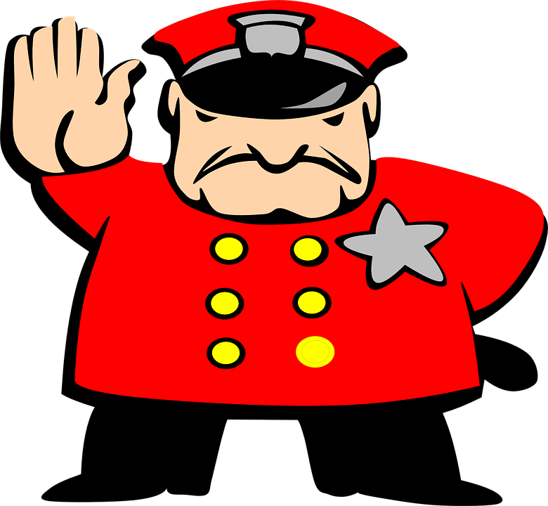 police man angry stop hand  u00b7 free vector graphic on pixabay policeman clip art png policeman clipart with stop sign