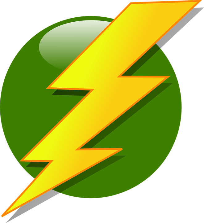 Bolt Lightning Flash Strike Yellow Green Ball