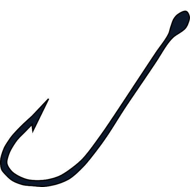 free vector graphic fish fishing hook plain sharp