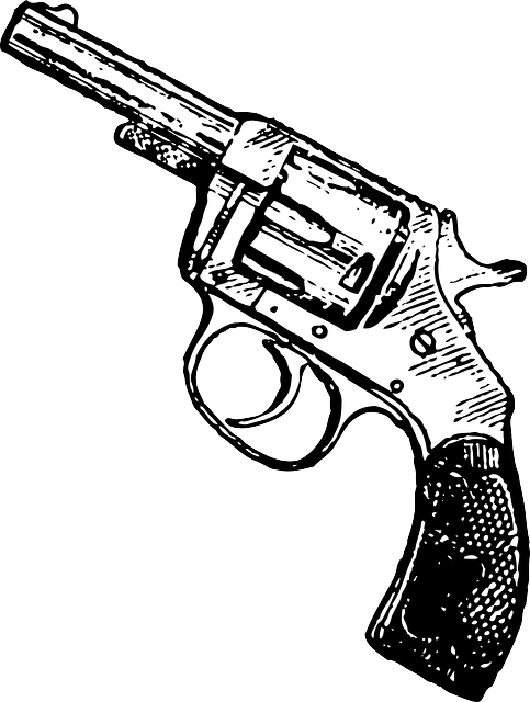 gun revolver pistol  u00b7 free vector graphic on pixabay