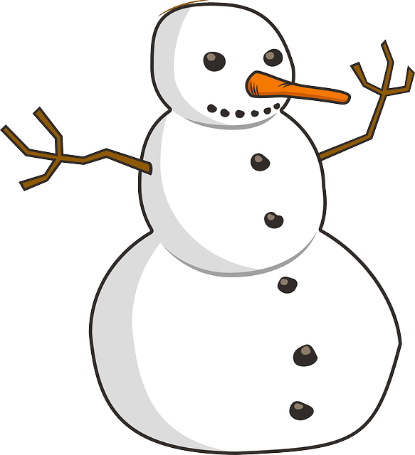 Free Vector Graphic: Snowman, Winter, Happy, Outdoors