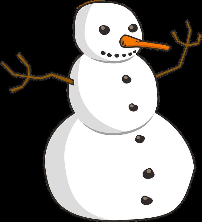 Schneemann, Winter, Glücklich, Im Freien, Karotte