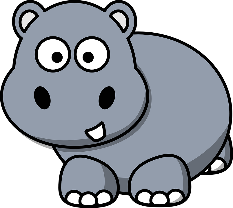 Free Vector Graphic Hippo Cartoon Happy Smile