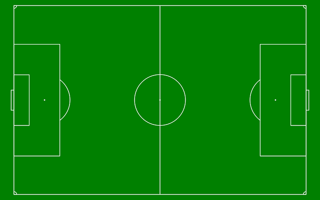 Soccer Field Diagram Green White Free Vector Graphic On Pixabay