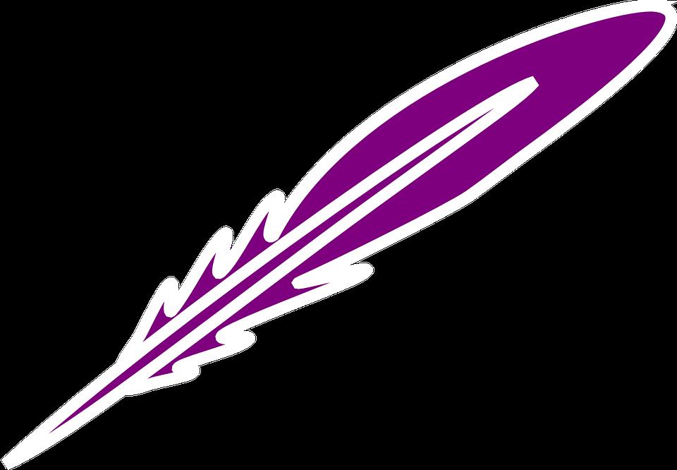 6802f3e6e0dc Fjäder Lila Skriftligen - Gratis vektorgrafik på Pixabay