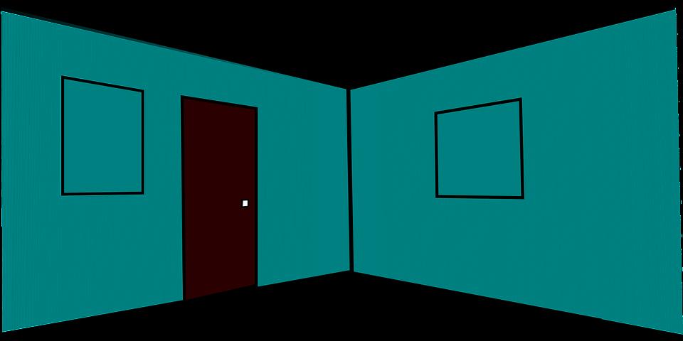Kostenlose Vektorgrafik: Zimmer, Innenraum, Tür, Leer