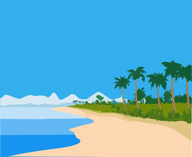 beach island tropic  u00b7 free vector graphic on pixabay