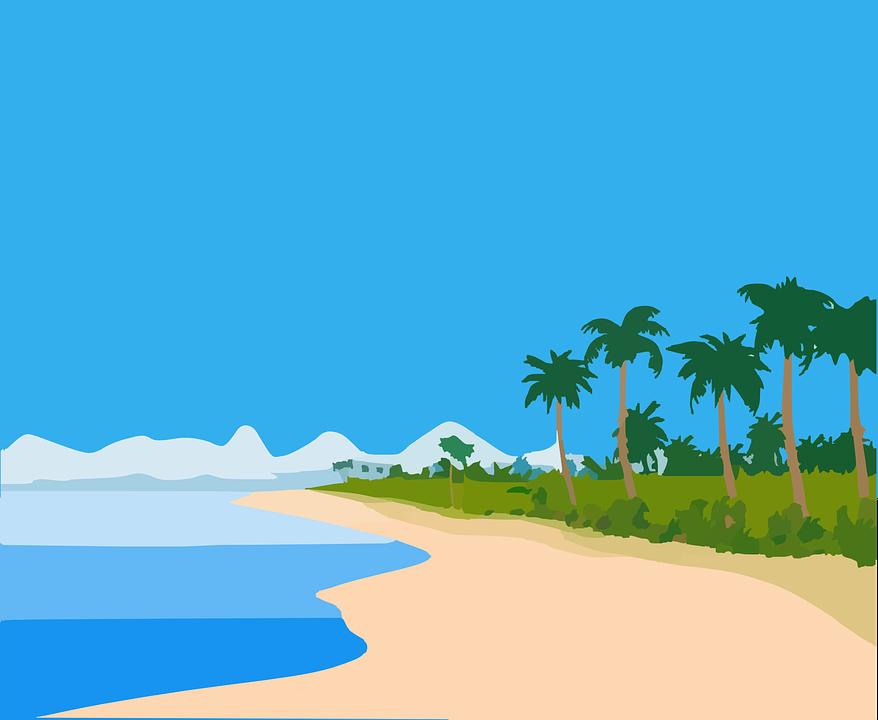 Beach Island Tropic · Free vector graphic on Pixabay
