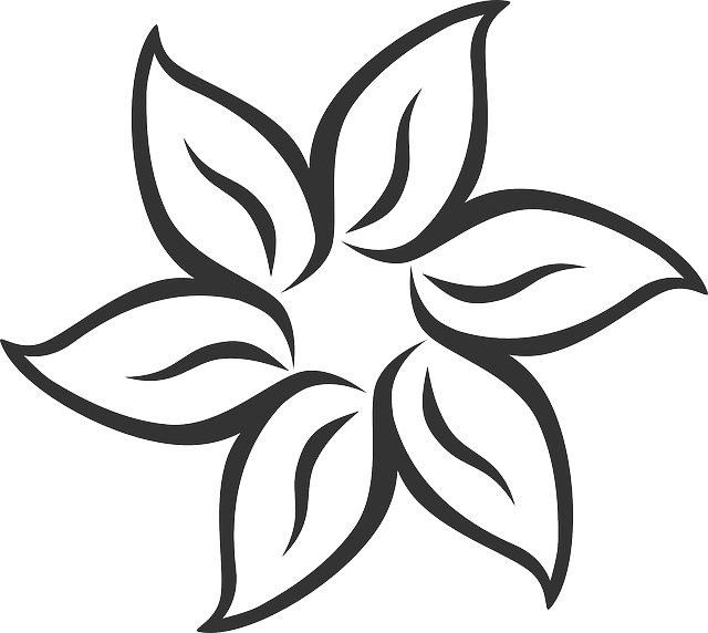 Flower Symmetric Leaves Free Vector Graphic On Pixabay