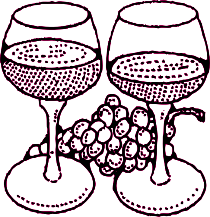 vinho uvas Óculos gráfico vetorial grátis no pixabay