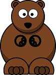 bear, cute, cartoon