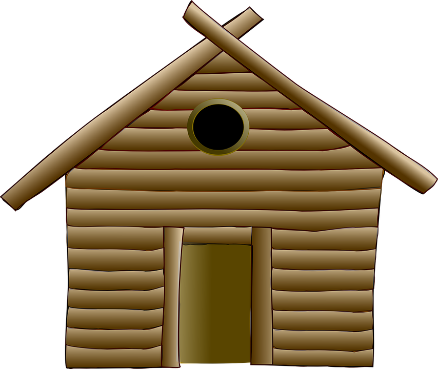 Free Vector Graphic Hut Log Cabin Wood House Free