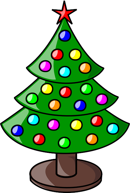 Christmas tree decorated free vector graphic on pixabay - Sapin clipart ...