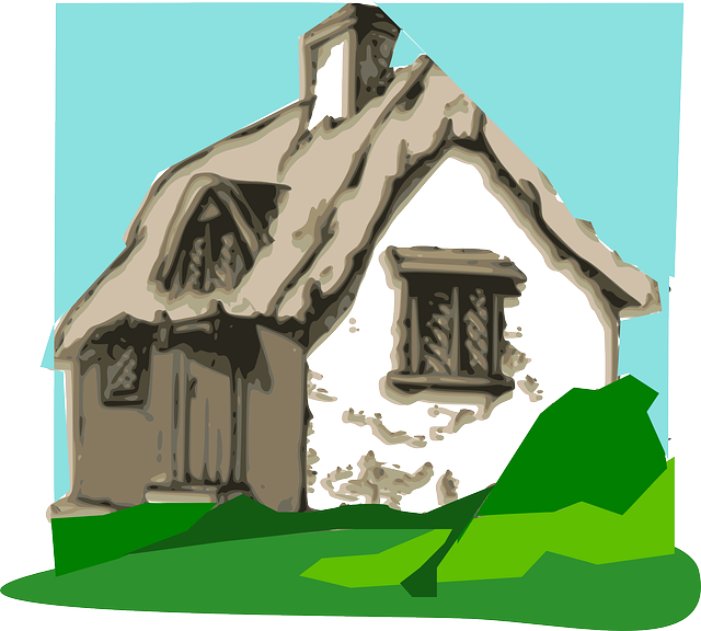 Free Vector Graphic Cottage Hut Home Peace Chimney
