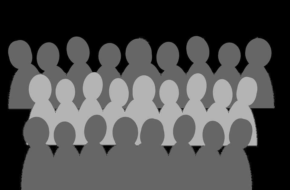 crowd silhouette transparent