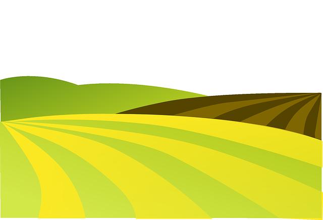 Farm field clipart