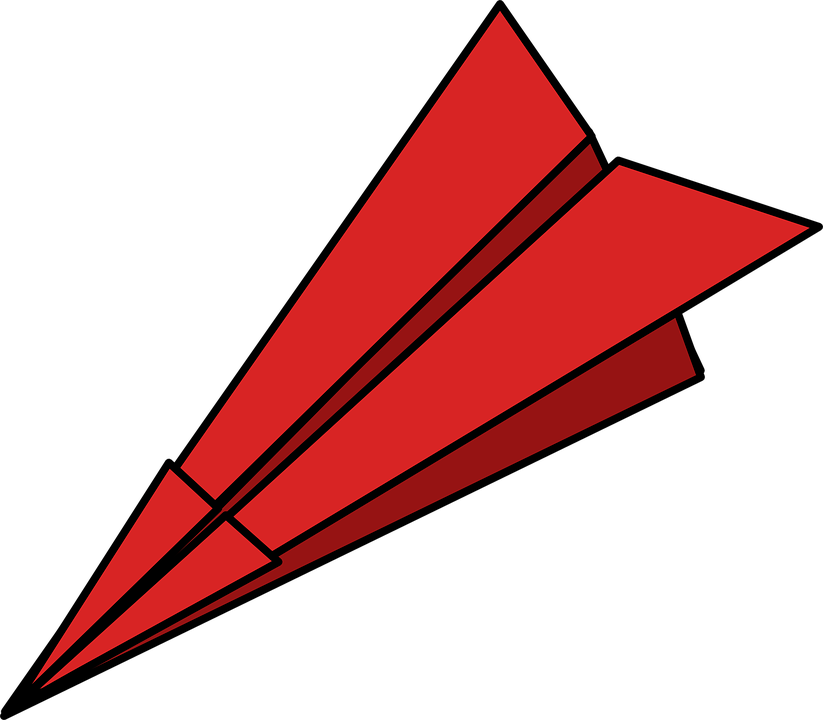 paper plane folded dart free vector graphic on pixabay rh pixabay com paper airplane clipart free