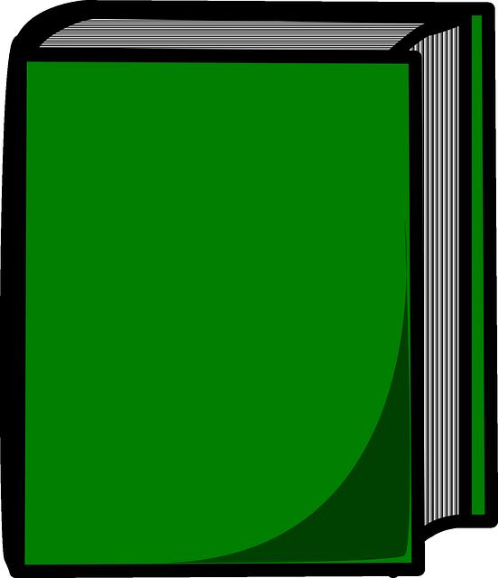 Purity Cookbook Green Cover : Ücretsiz vektör çizim kitap kapalı yeşil zor kapak