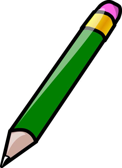 Vector gratis: Lápiz, Borrador, Goma, Verde - Imagen