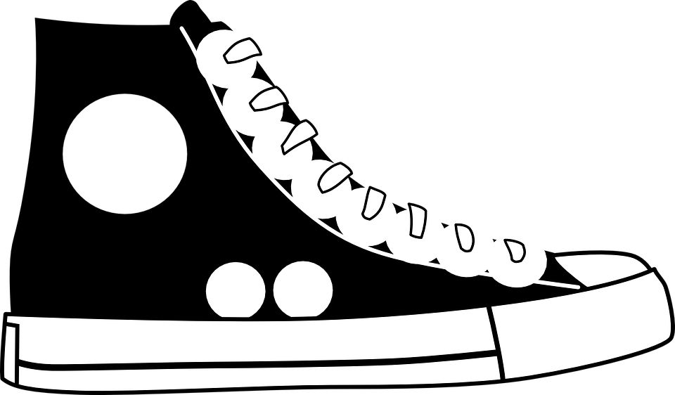 converse shoes clipart. black, shoe, converse, right, sideview converse shoes clipart t