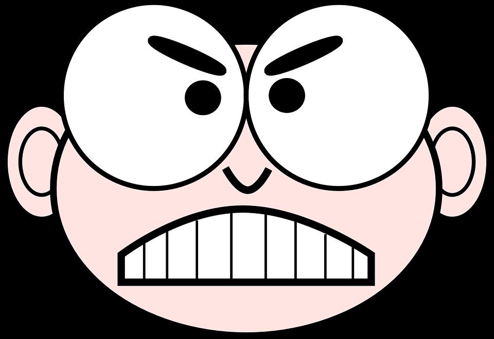 Cara Dibujos Animados Enojado Gráficos Vectoriales Gratis En Pixabay