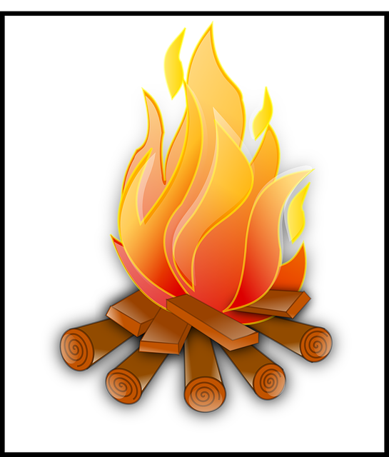 Yangın Kamp Ateşi Yanan Pixabayda ücretsiz Vektör Grafik