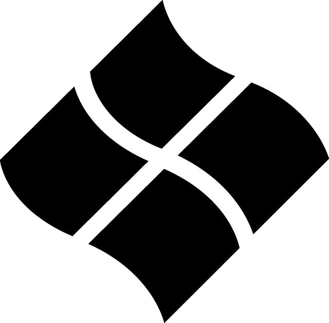 free vector graphic: windows, logo, twist, black - free image on