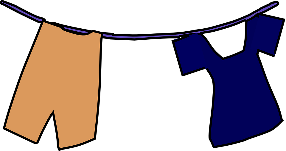 Line Art Uniform : Clothesline laundry hang · free vector graphic on pixabay