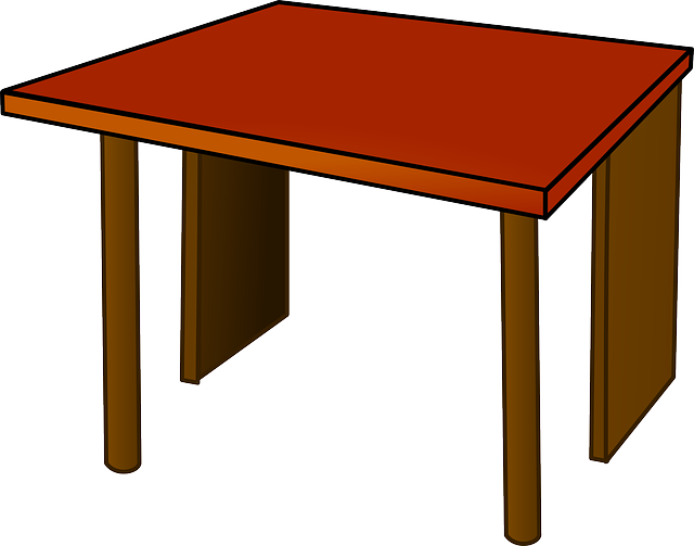 Table Top Desk · Free Vector Graphic On Pixabay