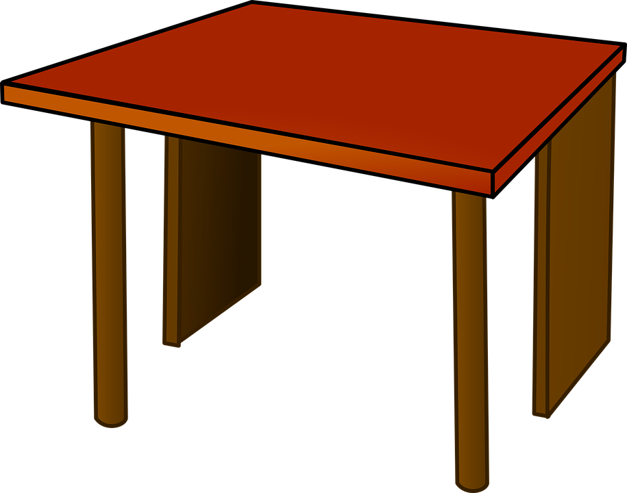 Table Top Desk Office Wood Furniture Red