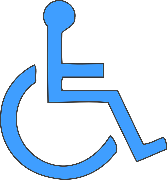 Free vector graphic wheelchair disability handicap Handicapped wheelchair