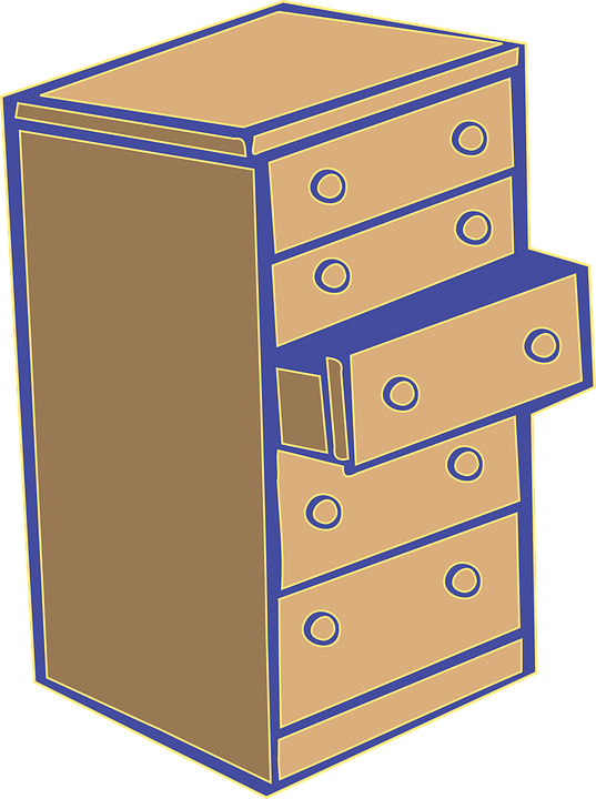 Chest of drawers commode dresser free vector graphic on for Bureau transparent