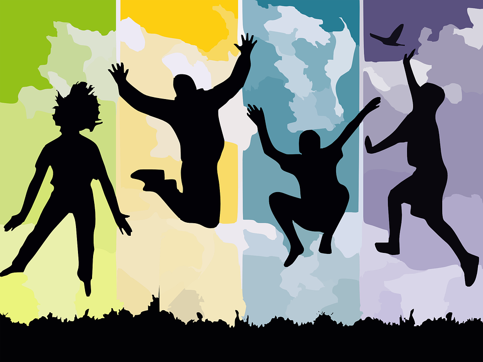 free vector graphic freedom jump reach silhouettes